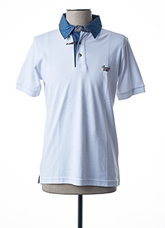 Polo manches courtes blanc BEVERLY pour homme