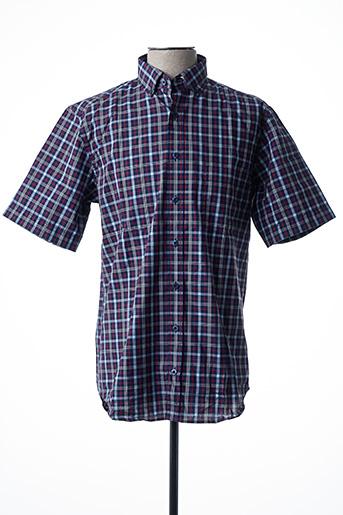 Chemise manches courtes bleu ETERNA pour homme