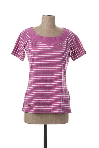 T-shirt manches courtes violet RAGWEAR pour femme