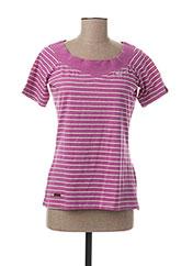 T-shirt manches courtes violet RAGWEAR pour femme seconde vue