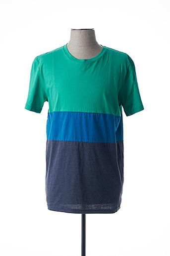 T-shirt manches courtes vert RAGWEAR pour homme