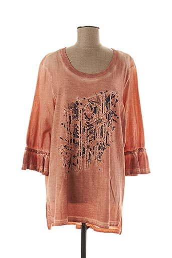 T-shirt manches longues orange APRICO pour femme