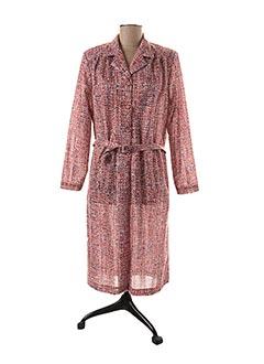 Robe courte rose FRANCE RIVOIRE pour femme
