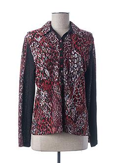 T-shirt manches longues rouge GUY DUBOUIS pour femme