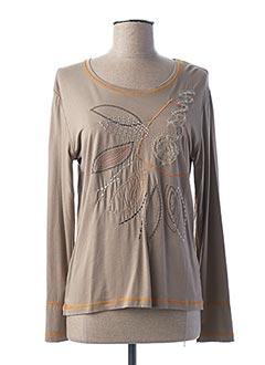 T-shirt manches longues beige FRANCE RIVOIRE pour femme