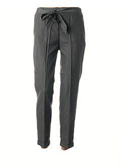 Pantalon 7/8 gris GRACE & MILA pour femme