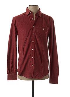Chemise manches longues rose IZAC pour homme