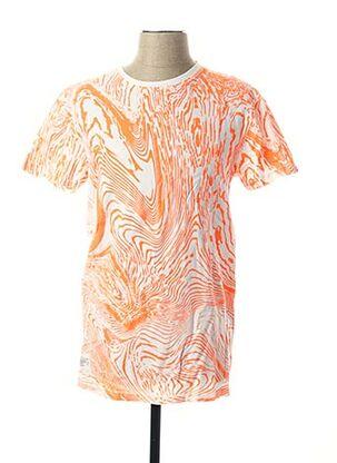 T-shirt manches courtes orange TWO ANGLE pour homme