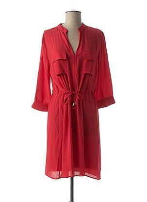 Robe mi-longue rouge AMELIE & AMELIE pour femme