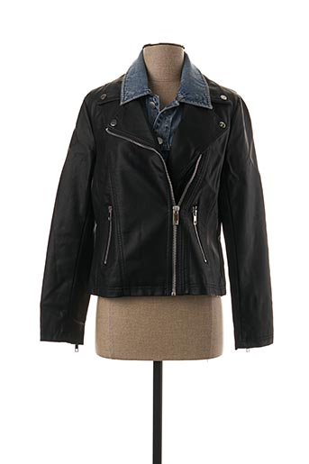 Veste simili cuir noir ESCANDELLE pour femme