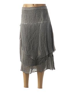 Jupe mi-longue gris FRED SABATIER pour femme