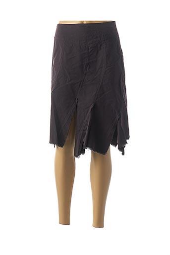 Jupe mi-longue violet ANTOGNINI JEANS pour femme