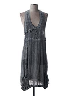 Robe mi-longue gris FRED SABATIER pour femme