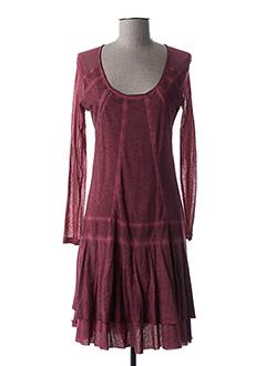 Robe mi-longue rose MALOKA pour femme