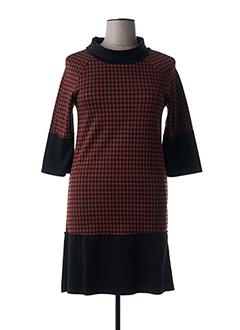 Robe mi-longue marron ELEONORA AMADEI pour femme