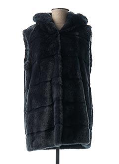 Manteau long bleu BEAUMONT pour femme