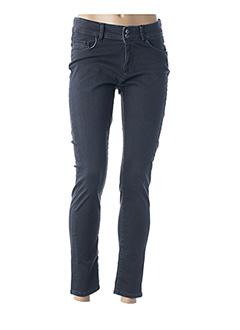 Jeans coupe slim noir GUY DUBOUIS pour femme