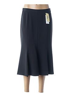 Jupe mi-longue noir FRANCE RIVOIRE pour femme