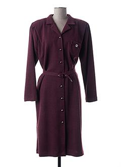Robe mi-longue violet GUY DUBOUIS pour femme