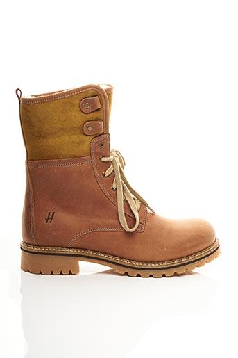 Bottines/Boots marron HOOPER SHOES pour homme