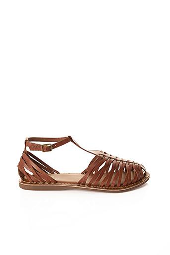 Sandales/Nu pieds marron ANAMAIA pour femme