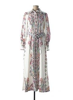 Robe mi-longue blanc VINTAGE pour femme