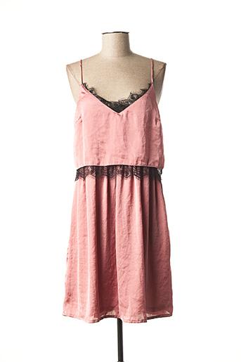 Robe mi-longue rose ANNA pour femme
