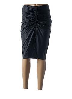 Jupe mi-longue noir 8PM pour femme