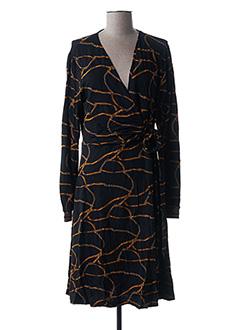 Robe mi-longue noir SUMMUM pour femme