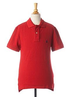 Polo manches courtes rouge RALPH LAUREN pour garçon
