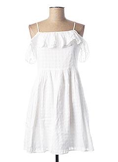 Robe mi-longue blanc RALPH LAUREN pour fille