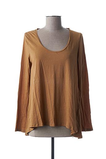 T-shirt manches longues marron I LOVE MY T'S pour femme