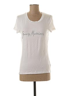 T-shirt manches courtes blanc GUESS BY MARCIANO pour femme