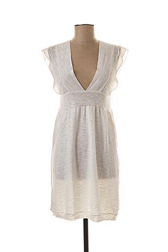 Robe courte blanc HEL-S pour femme