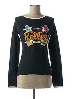 T-shirt manches longues noir FRANKLIN MARSHALL pour femme