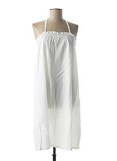Robe mi-longue blanc BOBI pour femme