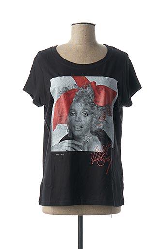 T-shirt manches courtes noir ELEVEN PARIS pour femme
