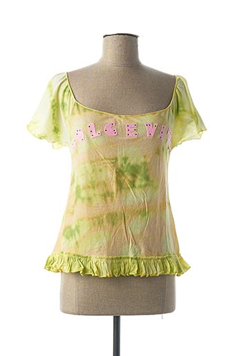T-shirt manches courtes vert CUSTO pour femme