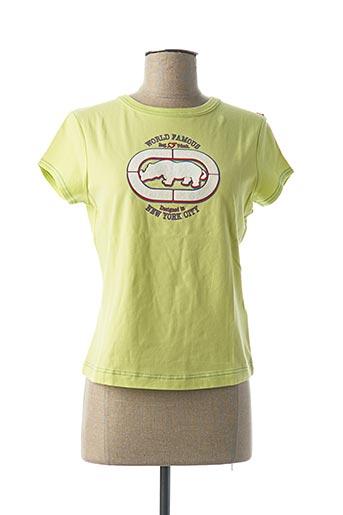 T-shirt manches courtes vert ECKO pour femme