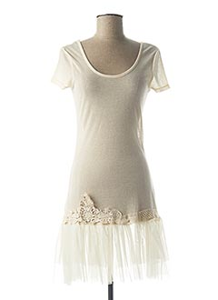 Robe mi-longue beige MOLLY BRACKEN pour femme
