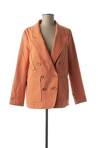 Veste casual orange BONSUI pour femme