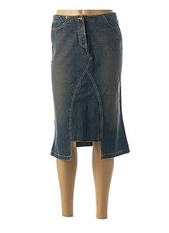 Jupe mi-longue bleu SCHOOL RAG pour femme