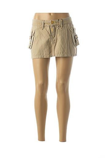 Mini-jupe beige SCHOOL RAG pour femme