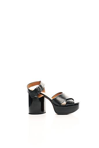 Sandales/Nu pieds noir CLERGERIE pour femme
