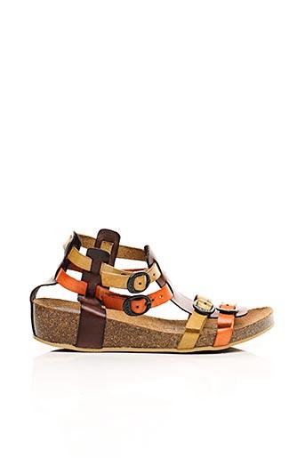 Sandales/Nu pieds orange KICKERS pour fille