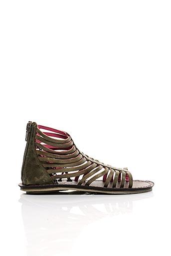 Sandales/Nu pieds vert KICKERS pour fille