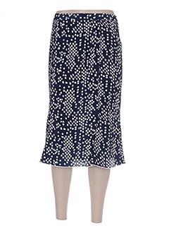 Jupe mi-longue bleu FRANCE RIVOIRE pour femme