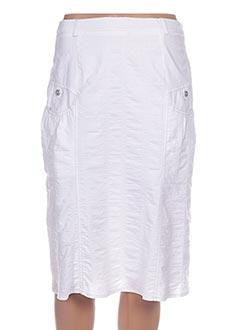 Jupe mi-longue blanc FRANCE RIVOIRE pour femme