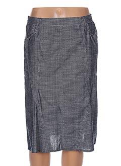 Jupe mi-longue bleu GUY DUBOUIS pour femme