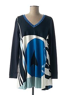 Tunique manches longues bleu PIANURASTUDIO pour femme